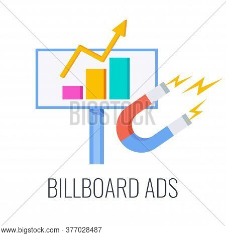 Billboard Ads Icon. Outbound Marketing. Traditional Offline Promotion. Tv, Radio And Print Ads. Tele