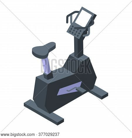 Exercise Bike Device Icon. Isometric Of Exercise Bike Device Vector Icon For Web Design Isolated On