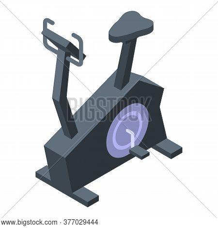 Simulator Exercise Bike Icon. Isometric Of Simulator Exercise Bike Vector Icon For Web Design Isolat