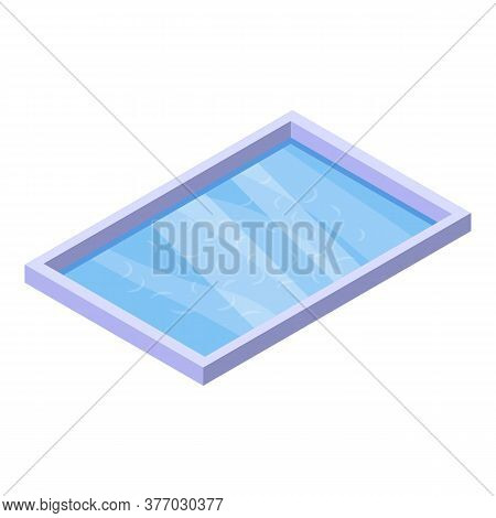 Sauna Pool Icon. Isometric Of Sauna Pool Vector Icon For Web Design Isolated On White Background