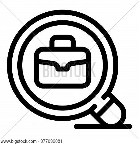 Search Work Place Icon. Outline Search Work Place Vector Icon For Web Design Isolated On White Backg