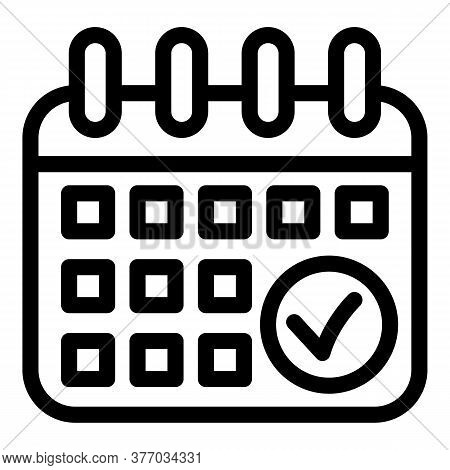 Running Calendar Date Icon. Outline Running Calendar Date Vector Icon For Web Design Isolated On Whi