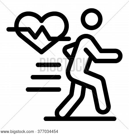 Healthy Running Icon. Outline Healthy Running Vector Icon For Web Design Isolated On White Backgroun