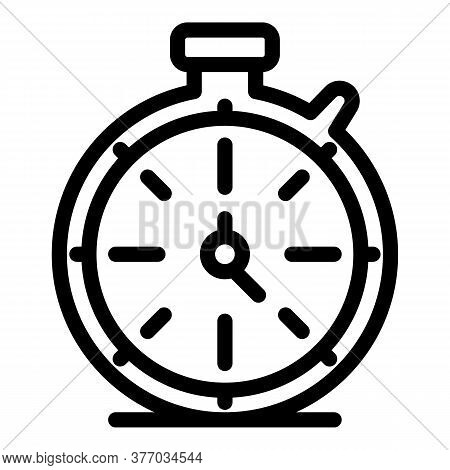 Sport Stopwatch Icon. Outline Sport Stopwatch Vector Icon For Web Design Isolated On White Backgroun