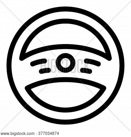 Auto Steering Wheel Icon. Outline Auto Steering Wheel Vector Icon For Web Design Isolated On White B