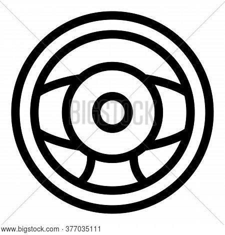 Racing Steering Wheel Icon. Outline Racing Steering Wheel Vector Icon For Web Design Isolated On Whi