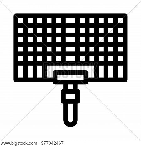 Bbq Grid Icon Vector. Bbq Grid Sign. Isolated Contour Symbol Illustration