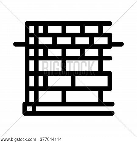 Block Foundation Icon Vector. Block Foundation Sign. Isolated Contour Symbol Illustration