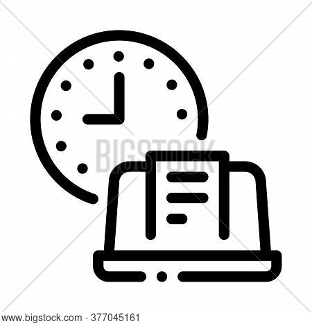 Report Deadline Icon Vector. Report Deadline Sign. Isolated Contour Symbol Illustration