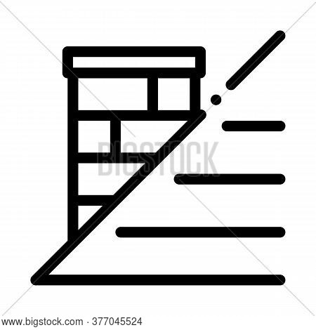Roof And Chimney Icon Vector. Roof And Chimney Sign. Isolated Contour Symbol Illustration
