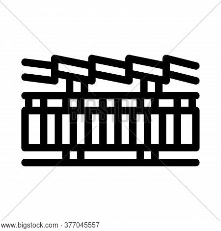 Roof Layers Icon Vector. Roof Layers Sign. Isolated Contour Symbol Illustration