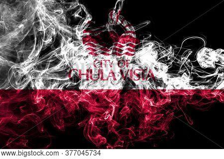 Chula Vista City Smoke Flag, California State, United States Of America