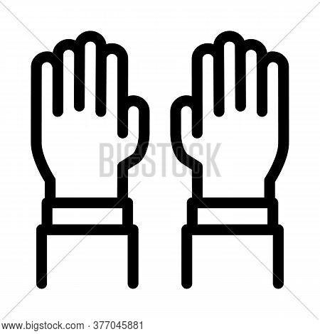 Surgeon Gloves Icon Vector. Surgeon Gloves Sign. Isolated Contour Symbol Illustration