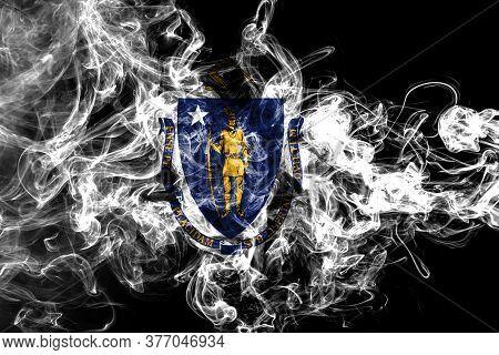 Massachusetts State Smoke Flag, United States Of America