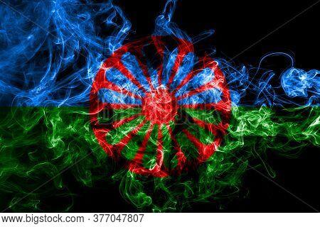 Romani People Smoke Flag, Gipsy Smoke Flag