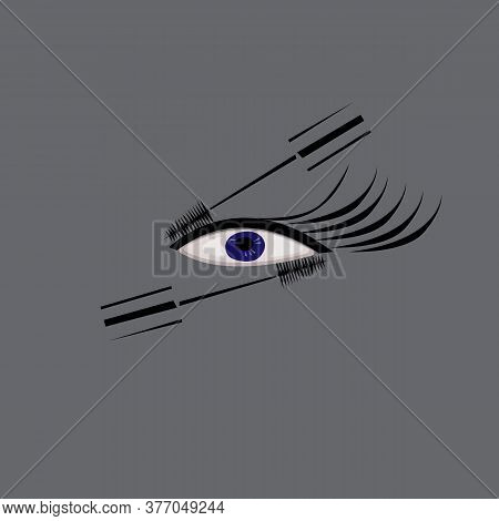 Poster For A Beauty Salon With An Image Of Mascara And Eyelashes