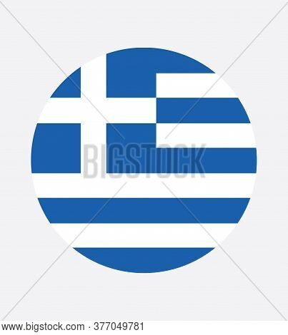 National Greek Flag, Official Colors And Proportion Correctly. National Greek Flag. Vector Illustrat