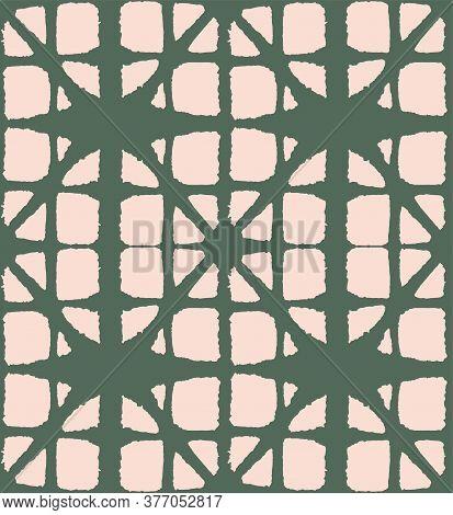 Japanese Tie Dye Seamless Pattern. Bohemian Kimono Fabric. Geometric Bohemian Asian Tie Dye Texture.
