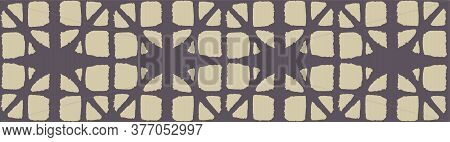 Japanese Tie Dye Seamless Pattern. Geometric Bohemian Asian Tie Dye Design. Rich Vip Japanese Clothe