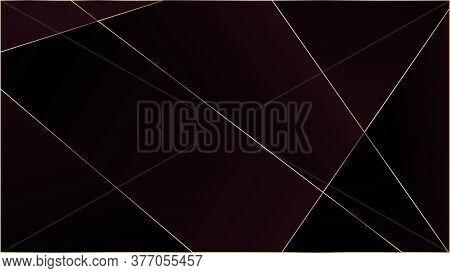Red Premium Triangular Texture. Vip Silver Rich Geometric Celebration Background. Gold Lines Polygon