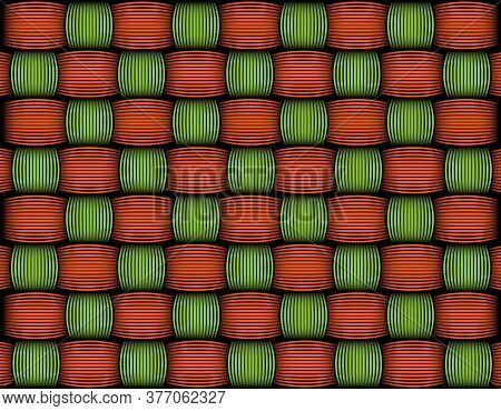 African Wax Print Fabric, Weaved Fiber Decorative Pattern, Ethnic Handmade Ornament For Your Design,