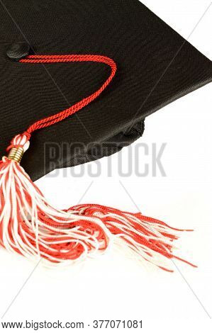 A Closeup Of A Graduation Mortar Board Cap And Tassle For Educational Ceromonies.