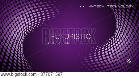 Abstract Halftone Background, Geometric Figure On A Gradient Background, Vector Trendy Graphic Desig