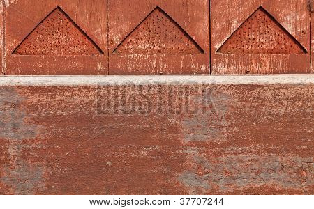 The Detail Of A Wooden Wall