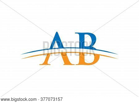 Ab Initial Letter Logo Design For Corporate Business Identity. Vector Ab Logotype For Business And C