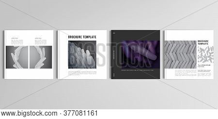 Realistic Vector Layouts Of Cover Mockup Design Templates For Square Brochure, Cover Design, Flyer,