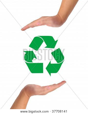 Conceptual Image, Help And Care For Recycling.