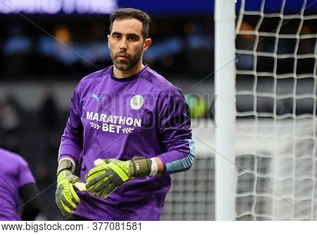 London, England - February 2, 2020: Claudio Bravo Of City Pictured Prior To The 2019/20 Premier Leag
