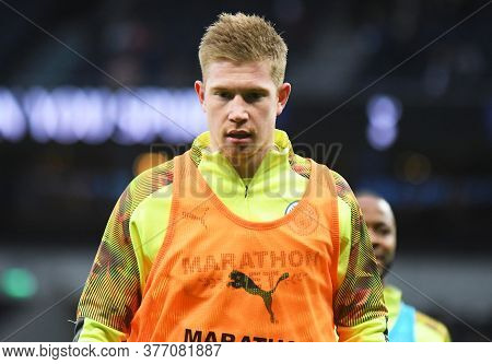 London, England - February 2, 2020: Kevin De Bruyne Of City Pictured Prior To The 2019/20 Premier Le