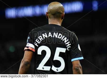 London, England - February 2, 2020: Fernando Luiz Roza (fernandinho) Of City Pictured During The 201