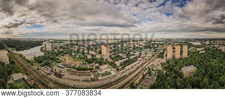 The Moscow Region Is The City Of Khimki I. Photo From A Quadrocopter.