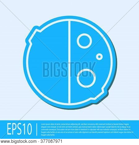 Blue Line Eclipse Of The Sun Icon Isolated On Grey Background. Total Sonar Eclipse. Vector Illustrat