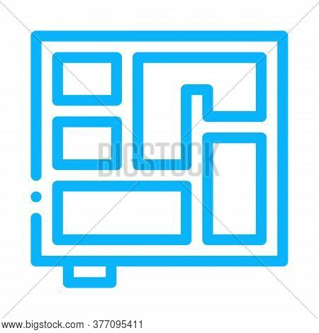 Foundation Plan Icon Vector. Foundation Plan Sign. Color Symbol Illustration