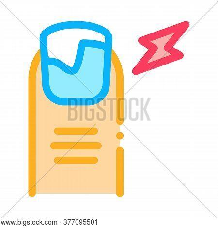 Nail Ill Icon Vector. Nail Ill Sign. Color Symbol Illustration