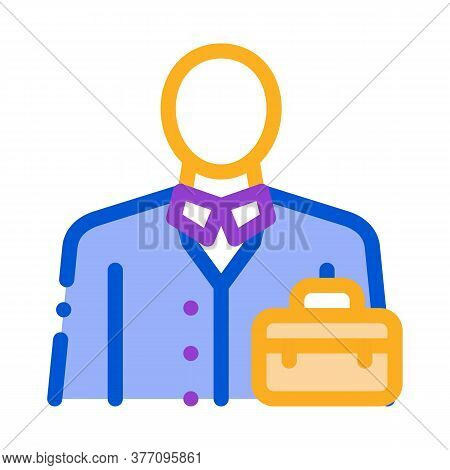Businessman Profession Icon Vector. Businessman Profession Sign. Color Symbol Illustration