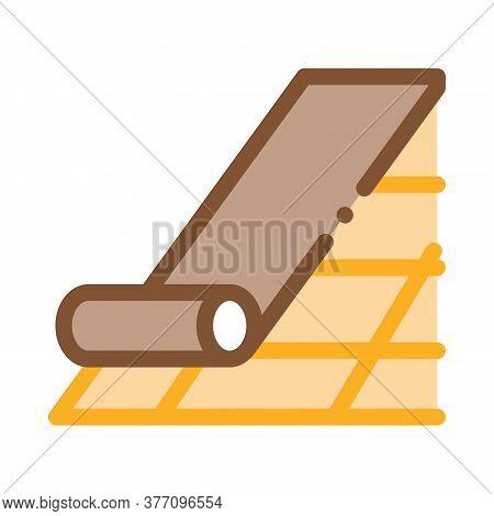 Roof Bitumen Shingle Icon Vector. Roof Bitumen Shingle Sign. Color Symbol Illustration