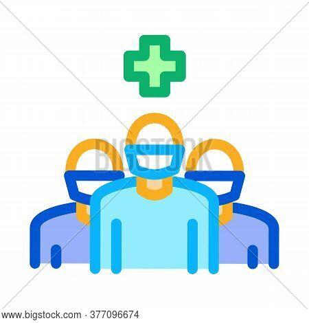 Surgeon And Nurses Icon Vector. Surgeon And Nurses Sign. Color Symbol Illustration