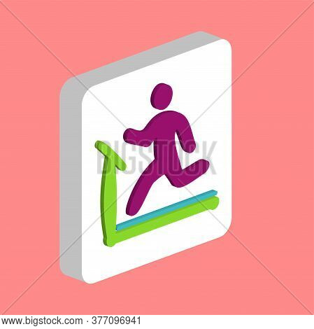 Treadmill Simple Vector Icon. Illustration Symbol Design Template For Web Mobile Ui Element. Perfect