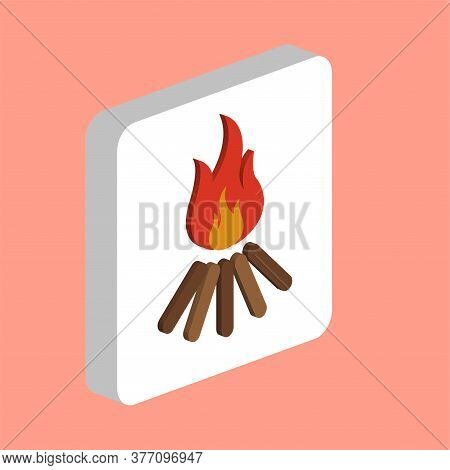 Bonfire, Campfire Simple Vector Icon. Illustration Symbol Design Template For Web Mobile Ui Element.