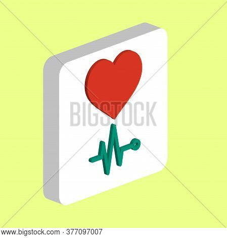 Heart Cardiogram Simple Vector Icon. Illustration Symbol Design Template For Web Mobile Ui Element.