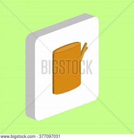 Tree Stump Simple Vector Icon. Illustration Symbol Design Template For Web Mobile Ui Element. Perfec