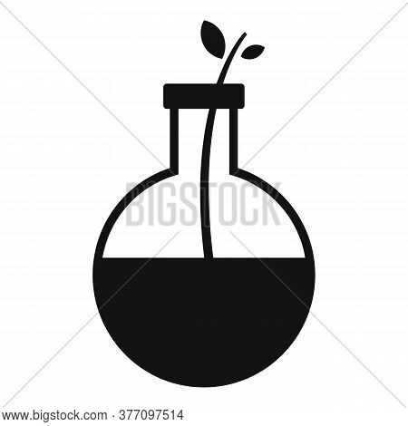 Homeopathy Eco Flask Icon. Simple Illustration Of Homeopathy Eco Flask Vector Icon For Web Design Is