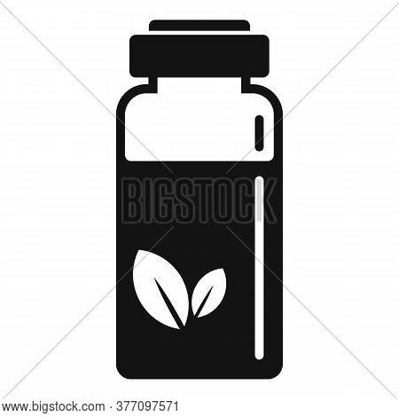 Homeopathy Syringe Bottle Icon. Simple Illustration Of Homeopathy Syringe Bottle Vector Icon For Web