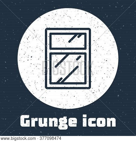 Grunge Line Cleaning Service For Windows Icon Isolated On Grey Background. Squeegee, Scraper, Wiper.