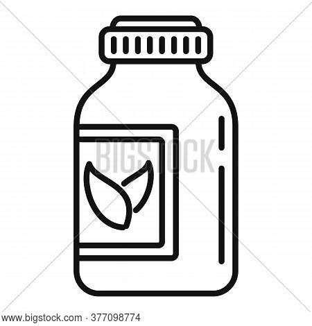 Science Medical Jar Icon. Outline Science Medical Jar Vector Icon For Web Design Isolated On White B