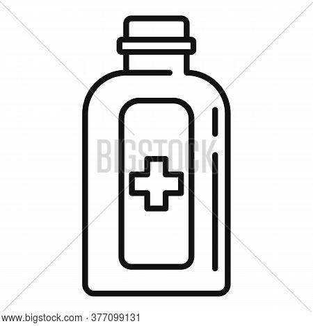 Medical Homeopathy Bottle Icon. Outline Medical Homeopathy Bottle Vector Icon For Web Design Isolate